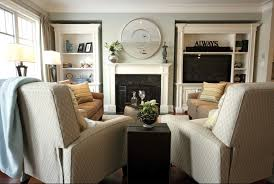 Living Room With Two Recliners  Two Couches Home Inspiration - Family room sofas