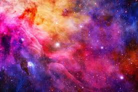 coloured space wallpaper wall decor coloured space