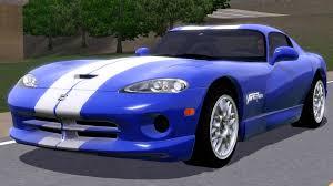 Dodge Viper Gts - fresh prince creations sims 3 1999 dodge viper gts acr
