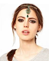 headpiece jewelry 2017 indian princess style jewelry fall classic green diamond