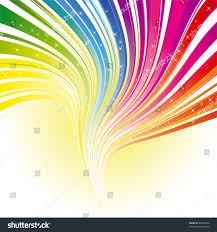 abstract rainbow color stripe background stars stock vector