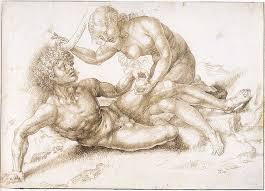 jan gossart adam and eve ca 1520 u201325 pen in brown ink and black