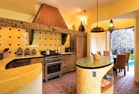 Kitchen Yellow Walls - mexican kitchen with yellow walls and large hood colorful and