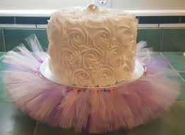 tutu baby shower cakes cake stand tutu purple lavender silver pink cupcake tulle skirt