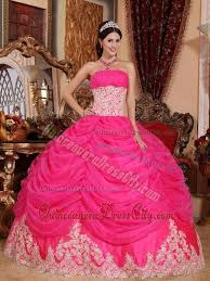 dresses for sweet 15 hot pink strapless beaded organza sweet 15 dresses with ruffles
