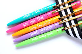 Desk Accessories Canada by Set Of 5 Pens Motivational Pens Cute Office Accessory Black