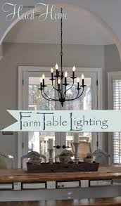 Chandelier Height Above Table by Lighting Over The Farmhouse Table The Winner Farmhouse Table