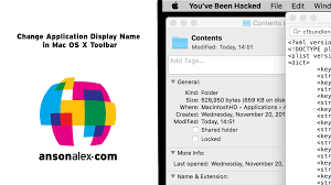 mac os x change application display name in toolbar ansonalex com