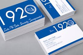 white and blue zeta phi beta business card color me finer