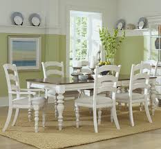 Pine Dining Room Set Pine Island Wood Dining Table In Old White Humble Abode