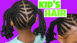 cornrows and ponytails child natural hair youtube