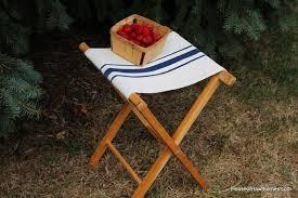 faux grain sack camp stool house of hawthornes