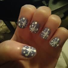 christmas nail design ideas snowflakes gray zestymag