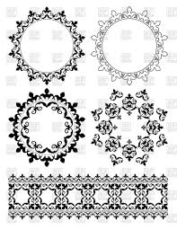 decorative design elements and ornaments vector clipart image