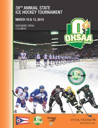 ohsaa boys ice hockey information