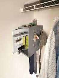 home organization ideas using cabinet hardware