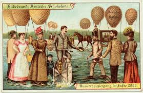 12 vintage postcards from the 1900s depict what would be like
