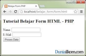 tutorial membuat web html sederhana tutorial php cara membuat validasi form php fungsi isset dan empty