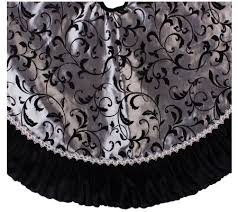 sterling 48 black and silver tree skirt qvc