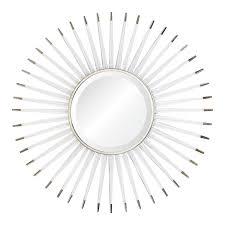 Accents Home Decor Lucite Starburst Mirror With Silver Accents Home Decor Mirrors