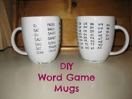 diy word game mugs