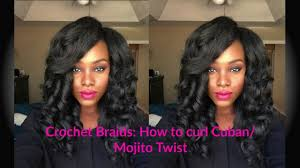 how do you curl cuban twist hair crochet braids how to curl cuban mojito twist tailo youtube