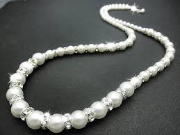 bridal necklace pearls images Ali christine bridal handmade wedding jewelry bridal hair jpg