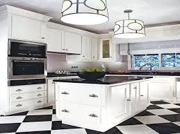 black and white checkered floor kitchen black white kitchen