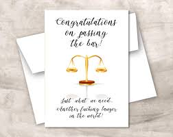 Graduation Card Invitation Congratulations On Passing The Bar Graduating Lawyer
