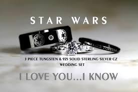 wars wedding bands wars wedding ring set geeky yet affordable wedding rings