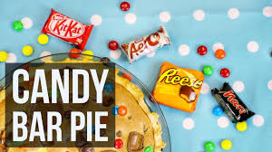 candy bar pie use your leftover halloween candy youtube