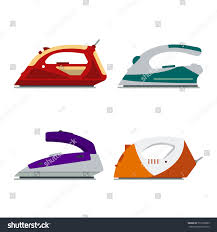 set colorful irons isolated on white stock vector 519272089
