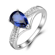 sapphire wedding rings images Leige jewelry teardrop ring sapphire engagement wedding rings for jpg