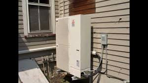 mitsubishi mini split wall mount mitsubishi 17 seer 48k five zones heat pump system youtube