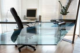 Modern Glass Office Desks Glass Creates Modern Glass Desktops Glass