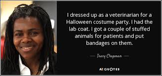 Halloween Lab Coat Costume Tracy Chapman Quote Dressed Veterinarian