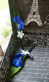 royal blue boutonniere boutonniere set real touch royal blue calla royal blue