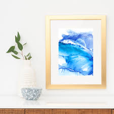 storm swell indigo ink art print ocean art blue ocean art