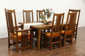 SOLD Stickley Signed Cherry Craftsman Design  Dining Set - Dining room table leaves