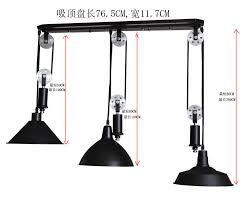 Pulley Pendant Light Adjustable Diy Silver Pulley Pendant Lamp Dining Room Bar Retro
