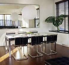 glass parsons dining table dining room parsons table a custom chrome and glass parsons dining
