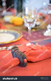 turkey napkin ring on festive turkey napkin ring stock photo 770692663