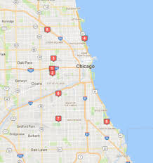chicago map shootings chicago crime map 11 killed and 11 wounded in 48 hours chicago news