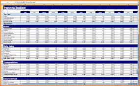 Personal Budget Spreadsheet Template 8 Budget Spreadsheet Template Monthly Bills Template