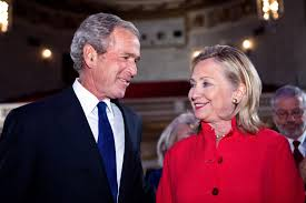 george h w bush date of birth the troubling friendship of hillary clinton and george w bush