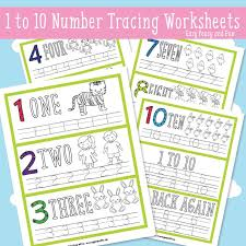 simple number tracing worksheets easy peasy and fun