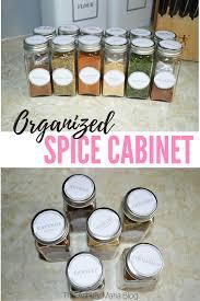 the ashley maria blog kitchen organization spice cabinet
