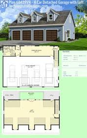 Carriage House Apartment Plans Plan 36057dk 3 Bay Carriage House Plan With Shed Roof In Back