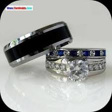 wedding rings sets for his and his hers 4 pcs black ip stainless steel cz wedding ring set mens