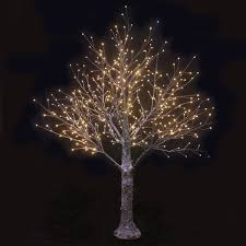 contemporary design twig christmas tree with lights warm white
